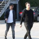 Joe & Kevin Jonas meet some friends for lunch in Los Angeles, California on January 9, 2015 - 454 x 531