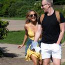 Caroline Flack in Yellow Mini Dress – Out in London - 454 x 685