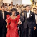 Liz was escorted by George Hamilton to the Cannes Film Festival gala