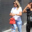 Sofia Richie in Ripped Jeans – Shopping in Beverly Hills
