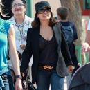 Salma Hayek And Daughter Spending The Day At Disneyland