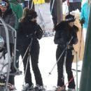 Kourtney hits the slopes  in Deer Valley Park, Utah on December 31, 2013