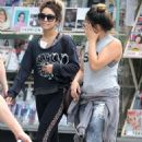 Vanessa and Stella Hudgens heading to spin class in Hollywood (August 27)