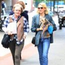 Naomi Watts is all smiles while out and about in New York City, New York with her mom Myfanwy Edwards Roberts on October 17, 2016 - 452 x 600