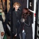 Lily Collins and Jamie Campbell Bower out in Toronto (November 1)