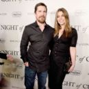 Christian Bale  and Sibi Blazic  : 'Knight of Cups'  Premiere - 392 x 600