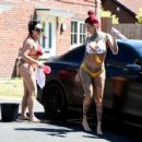 Jemma Lucy and Laura Alicia Summers in Bikini – Car Washing in Manchester - 454 x 427