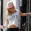 Sarah Harding: out of her home in Primrose hill
