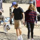 Shia LaBeouf and his new wife, Mia Goth, spend the day at the dog park in Studio City, California on October 15, 2016 - 454 x 511
