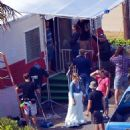 """Ashley Greene on the set of """"Wish I was Here"""" (August 5)"""