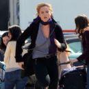 Abbie Cornish Filming 'The Dark Fields' In Central Park