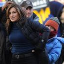 Mariska Hargitay - set of Law & Order SVU in New York Jan-14-2011
