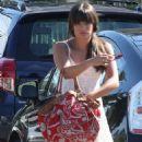 Lea Michele: Heads to a friend's house