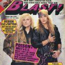 C.C. Deville, Bret Michaels - Blast! Magazine Cover [United States] (March 1990)