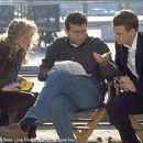Renee Zellweger, Director Gary Sinyor and Chris O'Donnell on the set of The Bachelor - 11/99