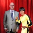 Madame Tussauds New York welcomes Bruce Lee's wax figure for a limited time at Madame Tussauds on August 13, 2014 in New York City - 454 x 306