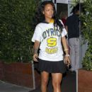 Rihanna Leaving Giorgio Baldi Restaurant In Los Angeles