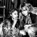 Donyale Luna and Brian Jones  during the filming of the Rolling Stones Rock & Roll Circus, December 1968 - 454 x 453