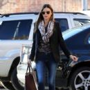 Miranda Kerr gets picked by her Hubby Orlando at the spa in Los Angeles,Ca January 4,2013
