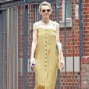 Carey Mulligan in Yellow Summer Dress – Out in NYC - 454 x 649