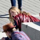 Melissa Benoist – Filming 'Supergirl' action scenes in Vancouver