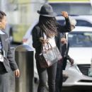 Zoe Saldana – Spotted at LAX Airport in LA