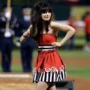 Zooey Deschanel's World Series National Anthem