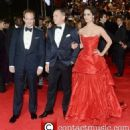 Ralph Fiennes, Daniel Craig and Bérénice Marlohe in Skyfall Premiere