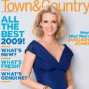 January Jones - Town & Country Magazine Cover [United States] (January 2009)