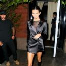 Kendall Jenner in Black Dress out for dinner in NYC