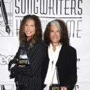 Aerosmith attends The Songwriters Hall Of Fame 44th annual Induction at the NY Marriott Marquis on June 13, 2013 - 374 x 594