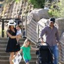 Gomez-Landry family at the LA Zoo