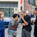 (Left to right) Megan (Shoshana Bush), Charity (Essence Atkins), A-Con (Affion Crockett) and Thomas (Damon Wayans, Jr.) tell tales out of school in the comic spoof 'Dance Flick.'