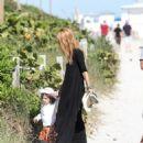 Rachel Zoe and son Little Skyler in MIAMI Beach Christmas vacations