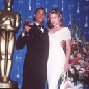Cuba Gooding Jr and Mira Sorvino attendsThe 69th Annual Academy Awards - Press Room (1997) - 407 x 612