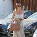 Chrissy Teigen – Leaving Meche hair salon in Beverly Hills - 454 x 681