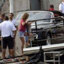 Jennifer Aniston – Filming 'Murder Mystery' in Portofino
