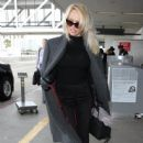 Pamela Anderson is spotted departing from LAX in Los Angeles, California on January 18, 2017