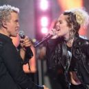 Miley Cyrus & Billy Idol at the 2016 iHeartradio Music Festival - 454 x 255