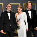 Joaquin Phoenix,Renée Zellweger and Brad Pitt At The 92nd Annual Academy Awards - Press Room