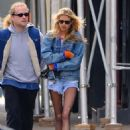 Stella Maxwell in Denim Shorts – Out in New York City - 454 x 605
