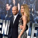 Actor Jason Statham and model Rosie Huntington-Whiteley attend Lionsgate Films' 'The Expendables 3' premiere at TCL Chinese Theatre on August 11, 2014 in Hollywood, California