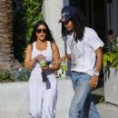 Kourtney Kardashian and Luka Subbat at Cha Cha Matcha in West Hollywood