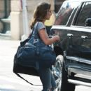 'Urge' actress Ashley Greene is spotted catching a ride with her dog in New York City, New York on July 28, 2015