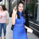 Nikki And Brie Bella Arrives – Seen at The Chew In New York - 454 x 550