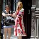 Claire Danes in Floral Dress out in New York City
