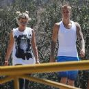 Justin Bieber and model Sofia Richie are spotted out for a hike in Hollywood, California on August 10, 2016