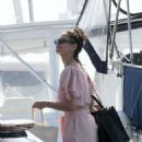 Katie Holmes in a Bikini on a yacht in Miami
