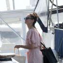 Katie Holmes in a Bikini on a yacht in Miami