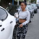 Karrueche Tran – Flashes her toned abs in West Hollywood - 454 x 681